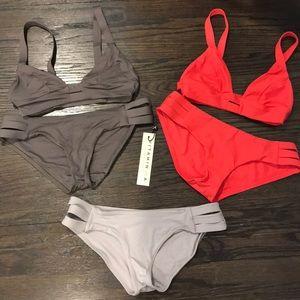 2 Vitamin A Neutra Bralette Bikinis Size 6/8